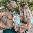Jessica Thivenin avec son mari Thibault Garcia et leur fils Maylone en vacances à l'île Maurice - Instagram, 28 janvier 2020