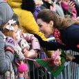Catherine Kate Middleton, duchesse de Cambridge lors d'une visite de la station de sauvetage RNLI Mumbles près de Swansea dans le sud du Pays de Galles le 4 février 2020.