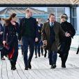 Le prince William, duc de Cambridge, Catherine Kate Middleton, duchesse de Cambridge, lors d'une visite de la station de sauvetage RNLI Mumbles près de Swansea dans le sud du Pays de Galles le 4 février 2020.
