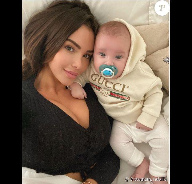 Nabilla et son fils Milann sur Instagram - janvier 2020