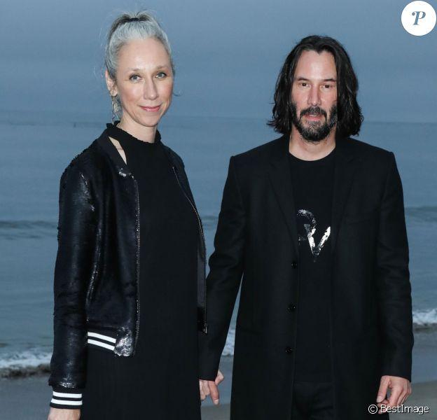 Keanu Reeves et sa compagne Alexandra Grant - Photocall - Saint Laurent présente sa collection homme printemps-été 2020 à Malibu le 6 juin 2019.