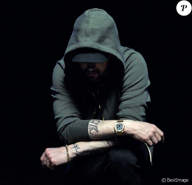 Eminem pose pour la nouvelle campagne de la marque Rag & Bone, le 9 juillet 2018.