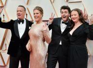 Oscars 2020 : Tom Hanks, survolté en famille, fait des pompes sur le tapis rouge