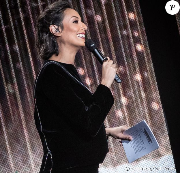 Leïla Kaddour-Boudadi (enceinte de son premier enfant) lors de la 35e cérémonie des Victoires de la musique à la Seine musicale de Boulogne-Billancourt, le 14 février 2020. © Cyril Moreau/Bestimage