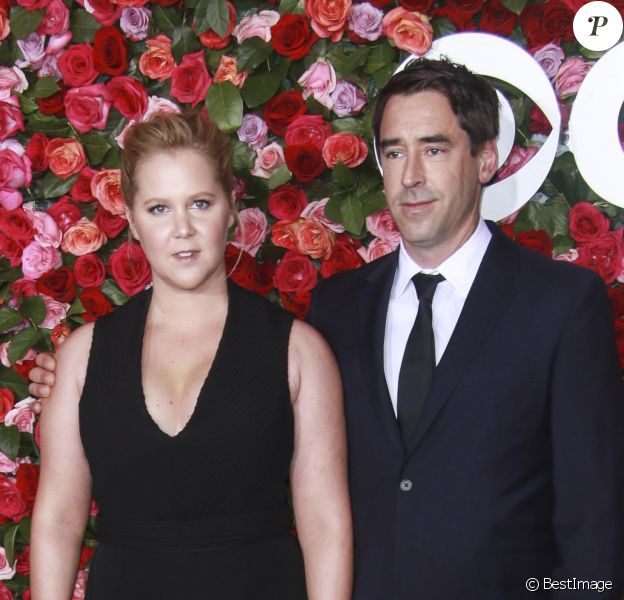 Amy Schumer et son mari Chris Fischer - 72ème cérémonie annuelle des Tony Awards au Radio City Music Hall à New York, le 10 juin 2018.