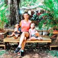 Kelly Bochenko avec ses enfants Diane et Karl, le 20 janvier 2020
