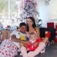 Julien Tanti, Manon Marsault et leur fils Tiago à Noël - Instagram, 29 décembre 2018