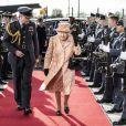 La reine Elizabeth II d'Angleterre en visite à la Royal Air Force à Marham. Le 3 février 2020