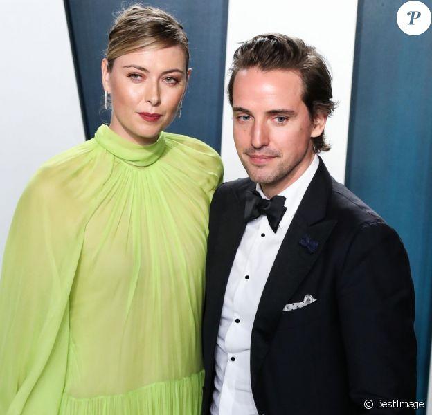 """Maria Sharapova, son compagnon Alexander Gilkes - People à la soirée """"Vanity Fair Oscar Party"""" après la 92ème cérémonie des Oscars 2020 au Wallis Annenberg Center for the Performing Arts à Los Angeles, le 9 février 2020."""