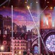 """Photo officielle du concert des Enfoirés 2020 """"Le Pari(s) des Enfoirés"""" à l'AccorHotels Arena à Paris. Il sera diffusé sur TF1 le 6 mars 2020."""