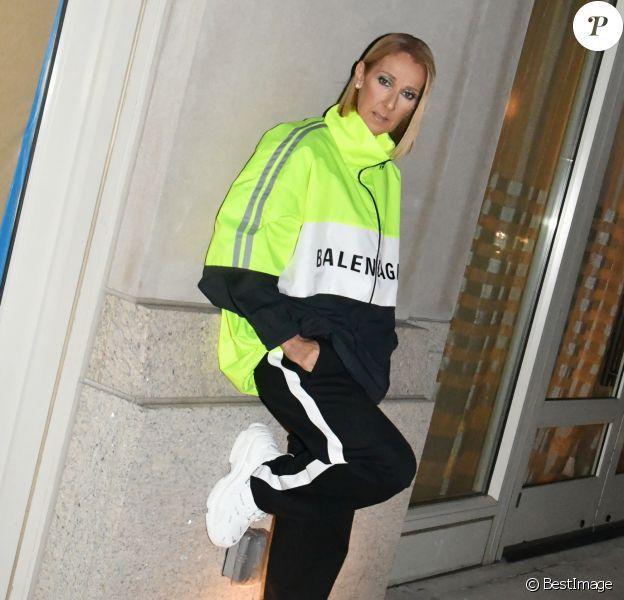 Exclusif - Céline Dion à l'issue de son deuxième concert au Barclays Center. Brooklyn, New York, le 29 février 2020.