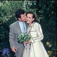 Carole Bouquet et Jacques Leibowitch le jour de leur mariage en 1991.