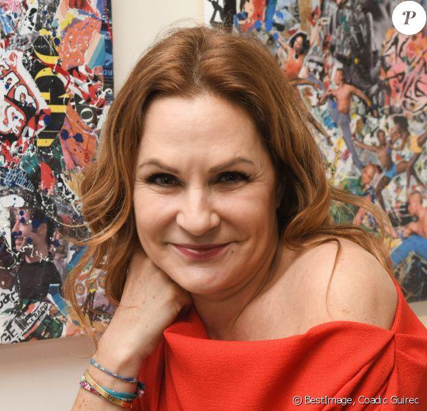 """Anne Mondy - Vernissage """"Anne Mondy mène la danse"""" à la Galerie ValerieGuerin à Paris le 5 mars 2020. Exposition du 6 mars au 10 avril 2020. © Coadic Guirec/Bestimage"""