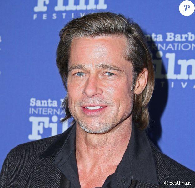 Brad Pitt à la soirée Maltin Modern Master Award en son honneur au 35ème Festival International du Film à Santa Barbara en Californie, le 22 janvier 2020