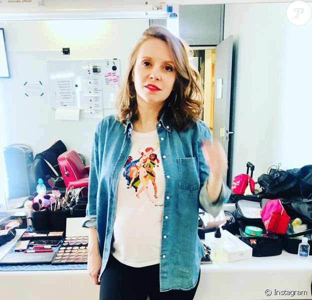 """Sophie Brafman, chroniqueuse de """"C'est au programme"""" (France 2), est enceinte."""