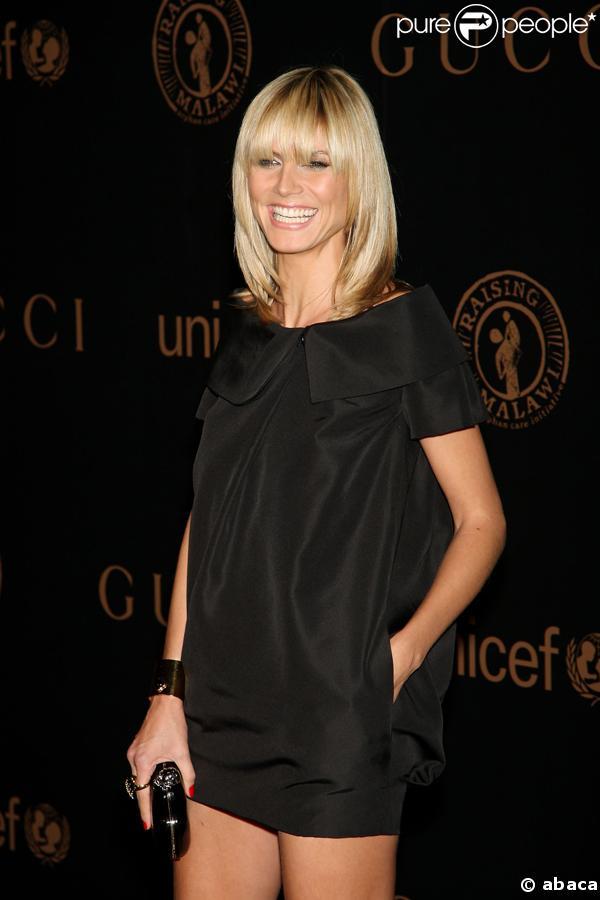 Heidi Klum à la soirée Gucci organisée au profit de l'Unicef et du Malawi