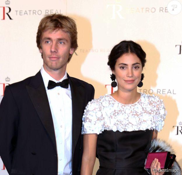 """Le prince Christian de Hanovre et sa femme Alessandra de Osma au photocall de la représentation de l'opéra """"Casse-Noisette"""" à Madrid. Le 6 novembre 2018"""