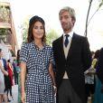 Alessandra de Osma et son mari le prince Christian de Hanovre - Mariage de Maria Vega Penichet Fierro et Fernando Ramos de Lucas à Madrid. Le 6 octobre 2018