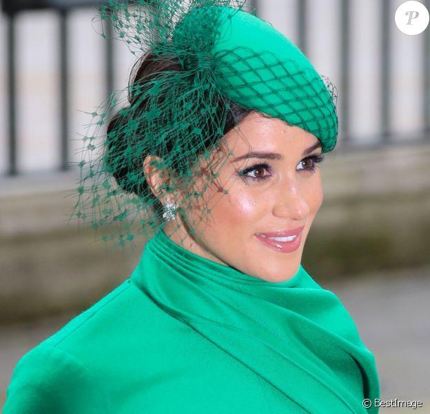 Meghan Markle, duchesse de Sussex - La famille royale d'Angleterre à la sortie de la cérémonie du Commonwealth en l'abbaye de Westminster à Londres, le 9 mars 2020.