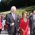 La famille royale de Liechtenstein participe aux célébrations de la Fête Nationale, le 16 août 2009