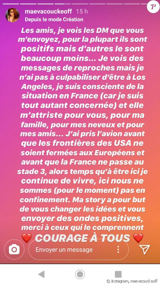 Maeva Coucke sur Instagram, le 15 mars 2019