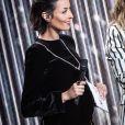Leïla Kaddour-Boudadi (Enceinte de son premier enfant) lors de la 35ème cérémonie des Victoires de la musique à la Seine musicale de Boulogne-Billancourt, le 14 février 2020. © Cyril Moreau/Bestimage