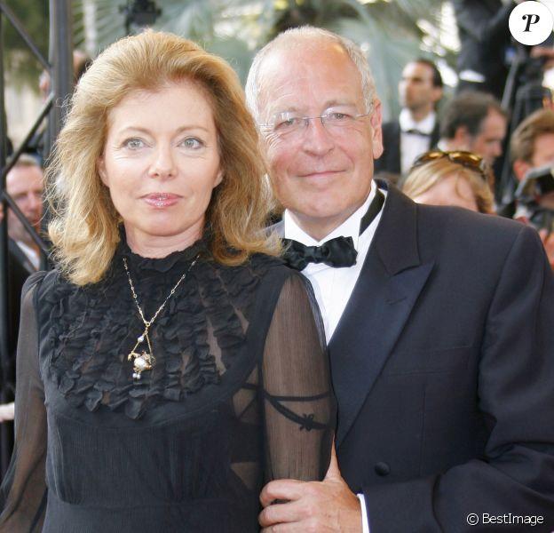 Patrick Le Lay et sa femme Dominique au 60e Festival de Cannes en mai 2007 lors de la projection du film No Country for Old Men.