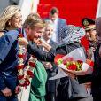 Le roi Willem-Alexander des Pays-Bas et la reine Maxima des Pays-Bas à leur arrivée à l'aéroport Halim Perdanakusuma de Jakarta, le 9 mars 2020.