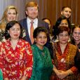 Le roi Willem-Alexander et la reine Maxima des Pays-Bas reçus par la Dutch Society in Indonesia à Jakarta, à l'occasion d'un voyage officiel en Indonésie. Le 10 mars 2020  King Willem-Alexander and Queen Maxima of The Netherlands during the meeting with the Dutch Society in Indonesia at the Erasmus House in Jakarta, Indonesia, 10 March 2020. The Dutch King and Queen are in Indonesia for their 4 day State Visit.10/03/2020 - Jakarta