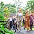 Le roi Willem-Alexander et la reine Maxima des Pays-Bas visitent le temple Prambanan lors de leur voyage officiel en Indonésie, le 11 mars 2020.  King Willem-Alexander and Queen Maxima of The Netherlands posing at the Prambanan Temple complex during their State Visit to Indonesia.11/03/2020 - Yogyakarta
