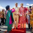 Le roi Willem-Alexander et la reine Maxima des Pays-Bas visitent Batak dans le hameau de Siambat Dalan, village de Lintong Nihuta, lors de leur voyage officiel en Indonésie, le 12 mars 2020.  King Willem-Alexander and Queen Maxima of The Netherlands arrive at the airport Silangit in Sumatra, Indonesia, 12 March 2020. The Dutch King and Queen are in Indonesia for their 3 day State Visit.12/03/2020 - Tobalake