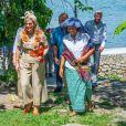 Le roi Willem Alexander et la reine Maxima, en visite d'état en Indonésie, posent sur L'île de Samosir, située sur le lac Toba le 11 mars 2020.  Sumatra, Indonesia - King Willem-Alexander and Queen Maxima of The Netherlands posing at the Toba Samosir during their State Visit to Indonesia.11/03/2020 - Sumatra