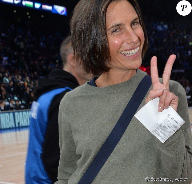 Alessandra Sublet au match de NBA Game Paris 2020 entre les Bucks de Milwaukee et les Charlotte Hornet à l'AccorHotels Arena à Paris le 24 janvier 2020. © Veeren / Bestimage