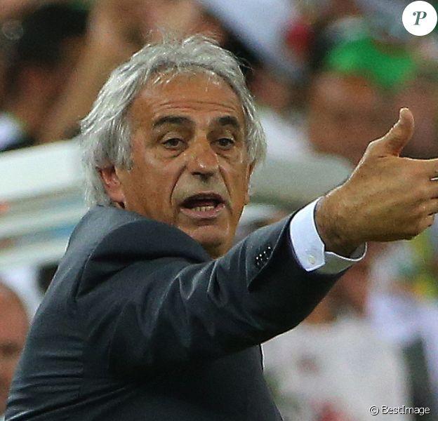 L'entraineur de l'Algérie Vahid Halilhodzic - Coupe du Monde - Match Algérie - Russie à Curitiba au Brésil le 27 juin 2014. Le match s'est soldé par un match nul 1-1 mais les Algériens se sont qualifiés pour le premier 8éme de coupe du monde de leur histoire.