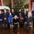 La famille royale de Belgique lors du traditionnel concert de Noël au palais à Bruxelles le 18 décembre 2019.