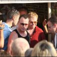 Elton John et son mari David Furnish en vacances à Saint-Tropez, au mois d'août 2009