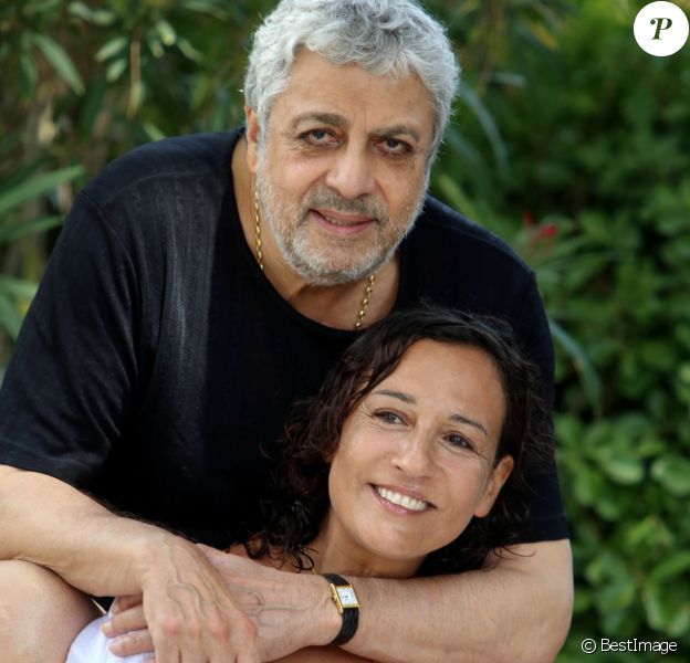 Exclusif - Rendez-vous avec Enrico Macias et sa fille Jocya à l'hôtel Mas Bellevue à Saint-Tropez, le 28 juillet 2014.