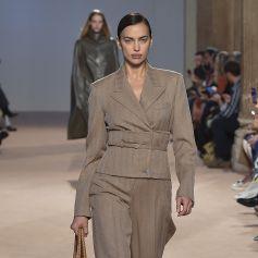 """Irina Shayk - Défilé de mode PAP automne-hiver 2020 """"Salvatore Ferragamo"""" à Milan. Le 22 février 2020."""