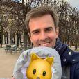 Jean-Baptiste Marteau papa heureux, le 1er janvier 2020, sur Instagram