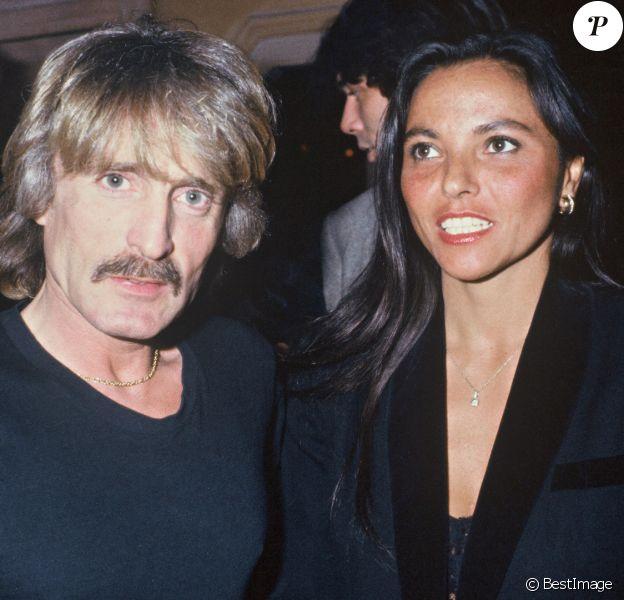 Christophe (Daniel Bevilacqua) et sa femme Véronique Bevilacqua à Paris le 11 juillet 1984.