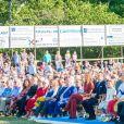 La princesse Victoria de Suède, le roi Carl XVI Gustaf, la reine Silvia, le prince Carl Philip, la princesse Sofia, la princesse Madeleine et son mari Chris O'Neill lors de la célébration du 42e anniversaire de la princesse Victoria à Borgholm le 14 juillet 2019.