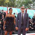 """Vincent Cassel et sa femme Tina Kunakey - Red carpet pour le film """"J'accuse!"""" lors du 76ème festival du film de venise, la Mostra le 30 Août 2019."""