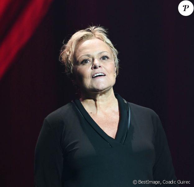 """Semi-exclusif - Muriel Robin - Générale du nouveau spectacle """"Muriel Robin et Pof !"""" au Palais des Sports à Paris le 3 octobre 2019. © Coadic Guirec/Bestimage"""