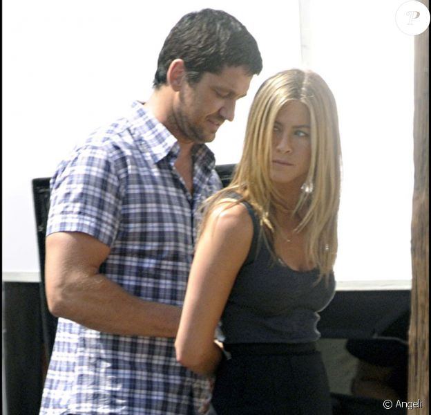 Jennifer Aniston et Gerard Butler sur le tournage de The Bounty à New York le 24 août 2009