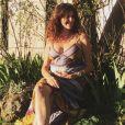 Fanny Agostini, enceinte de son premier enfant. Instagram, avril 2020.