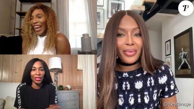 Naomi Campbell interroge Serena Williams sur son amie Meghan Markle, le 20 avril 2020 sur YouTube.