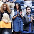 Meghan Markle et Alexis Ohanian (le mari de S. Williams) dans les tribunes de la finale femme du tournoi de l'US Open 2019 opposant Serena Williams à Bianca Andreescu (3-6 / 5-7) au Billie Jean King National Tennis Center à New York, le 7 septembre 2019.