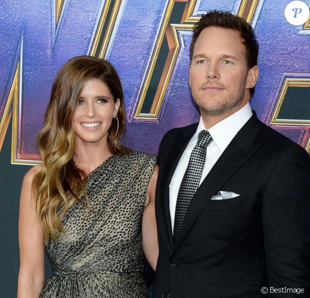 """Chris Pratt et Katherine Schwarzenegger à l'avant-première du film """"Avengers : Endgame"""" à Los Angeles, le 22 avril 2019."""