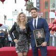 Michael Buble honoré avec son étoile sur le Walk Of Fame à Hollywood avec Luisana Lopilato Los Angeles, le 16 novembre 2018