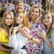 La reine Maxima et ses filles ultraglamour pour l'anniversaire confiné du roi